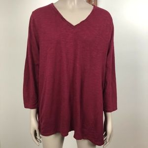 Chico's The Ultimate Tee 3 Wine Burgundy